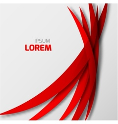 Abstract background with red lines vector image