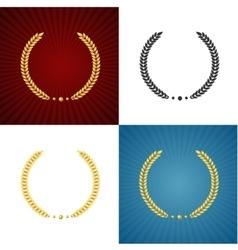 Black and Gold Laurel Set vector image