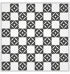 Chessboard ornate background vector image vector image