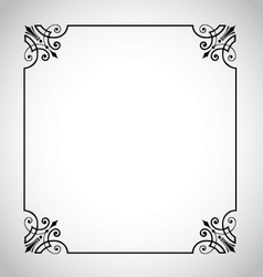 decorative vintage frame vector image
