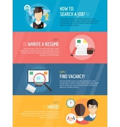 Job search after university infographic vector image vector image