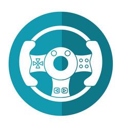 Steering wheel video game shadow vector