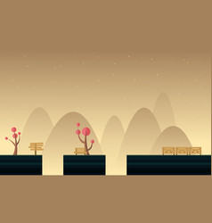 Style cute scenery for game background vector