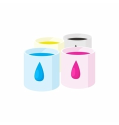 Color cartridges for printer icon cartoon style vector image