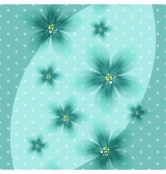 Colorful Floral Blue Background with Dots vector image vector image
