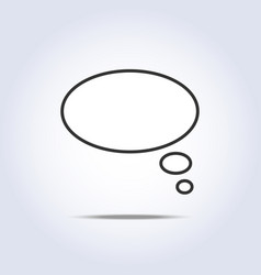 white speech thoughts bubbles icon vector image