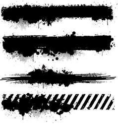 black ink texture banner vector image vector image