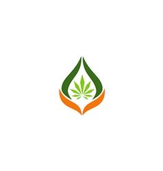 cannabis leaf medical logo vector image vector image