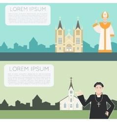 Catholic Church Banner vector image