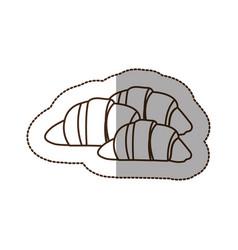 figure croissant bread icon vector image