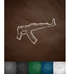 Machine gun icon vector