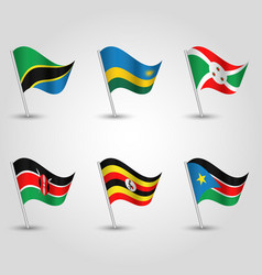 set of flags states of east african community vector image