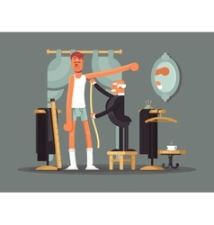 Taking measures at tailor shop vector image vector image