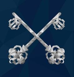 2 Crystal Keys vector image