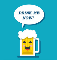 A mug of beer is calling for drink vector