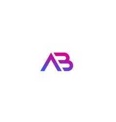 Ab monogram logo on white vector
