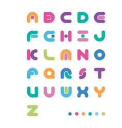 Abstract color font with a point vector