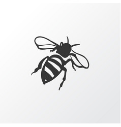 Bee icon symbol premium quality isolated sting vector