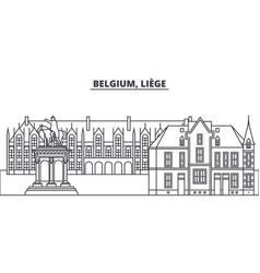 Belgium liege line skyline vector
