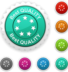 Best quality award vector image