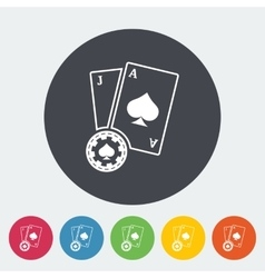 Blackjack Flat Icon vector