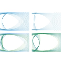 business card templates with waves vector image