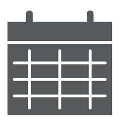 calendar glyph icon month and day date sign vector image