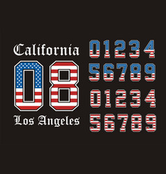 California set number flag usa vector