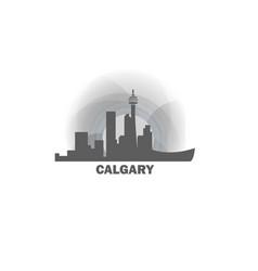canada calgary skyline vector image