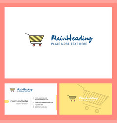 cart logo design with tagline front and back vector image