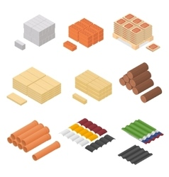 Construction Material Isometric View vector