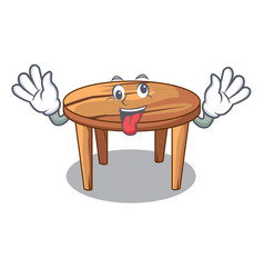 crazy wooden table isolated on the mascot vector image