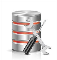 Database with tools vector image