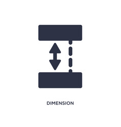 Dimension icon on white background simple element vector