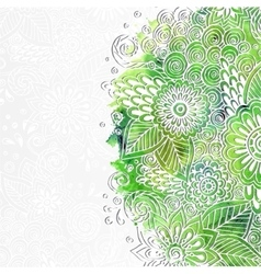 Doodle 3D White Paper Pattern With Circle Shape vector image