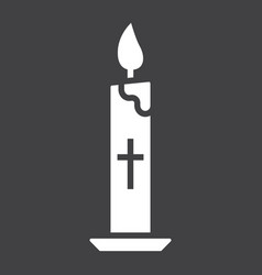Easter candle glyph icon easter and holiday vector