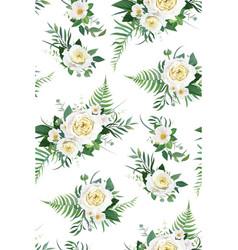 elegant watercolor rose floral seamless pattern vector image