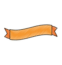 empty ribbon bannner vector image
