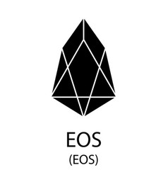 eos cryptocurrency symbol vector image