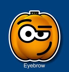 Eyebrow vector image