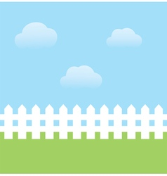 fence white vector image