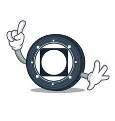 Finger byteball bytes coin mascot cartoon vector