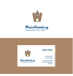 flat hunted house logo and visiting card template vector image