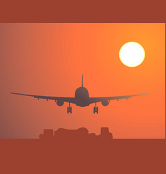 Fly in he sunset vector