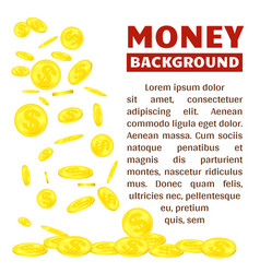 Flying gold coins isolated on white background vector