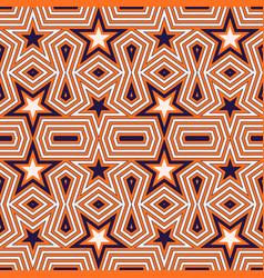 geometric seamless pattern with stars vector image