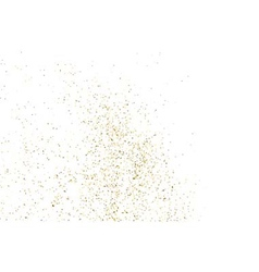 Gold glitter texture white rectangle vector