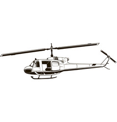 graphic drawing helicopter monogram vector image