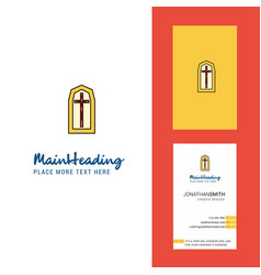 Grave creative logo and business card vertical vector