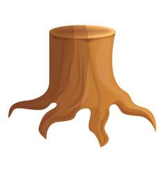 Ground tree stump icon cartoon style vector